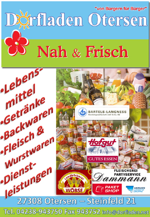 Banner Dorfladen Otersen