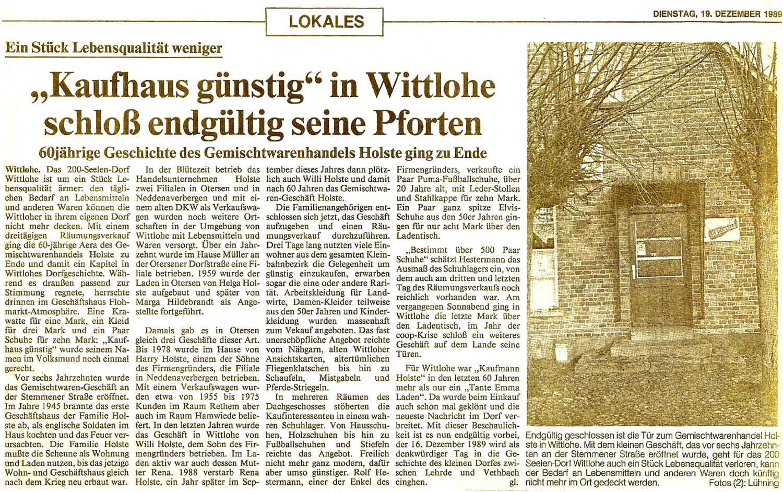 Kaufhaus günstig Holste Wittlohe machte dicht_Dezember 1989_web2