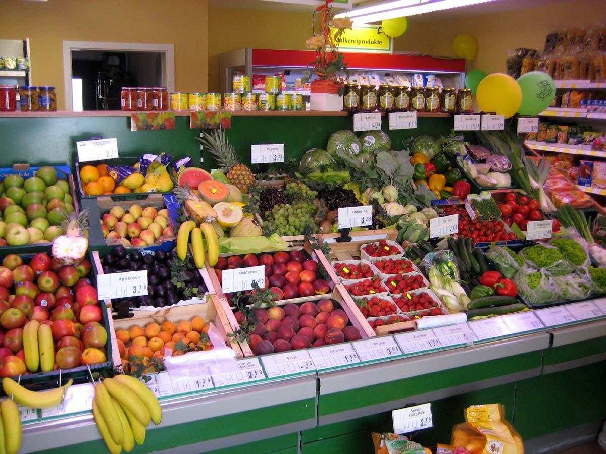 Das Obst- und Gemüse-Angebot im Dorfladen Heising