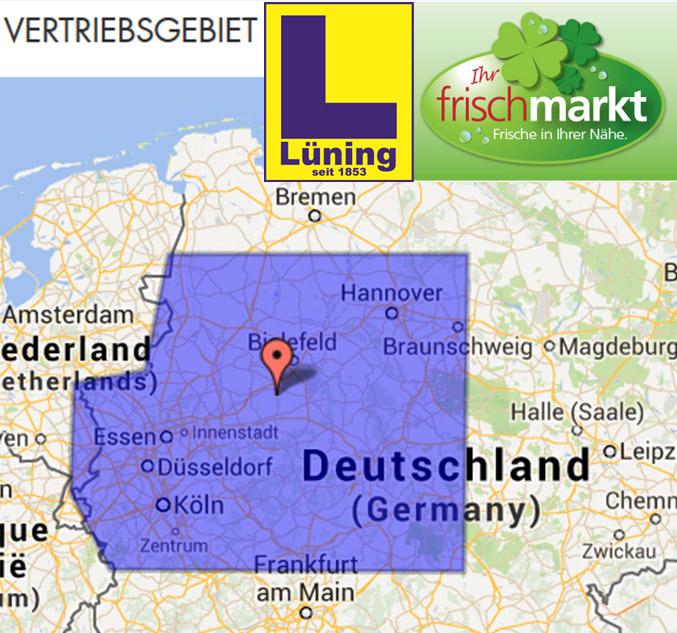 Nordrhein-Westfalen, Süd-Niedersachsen und Nord-Hessen gehören zum Lüning-Vertriebsgebiet