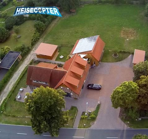 Luftbild des Bürger-Dorfladen Otersen mit Mehrgenerationen-Dorfcafe