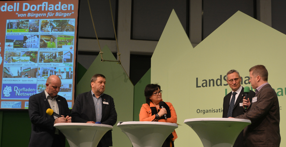 Frank Sauter (rechts) bei der Gesprächsrunde auf der LandSchau-Bühne in Berlin