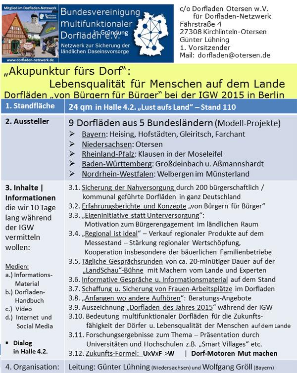 IGW 2015_9 Dorfläden von Bürgern für Bürger_Lebensqualität für Menschen auf dem Lande_Akupunktur fürs Dorf