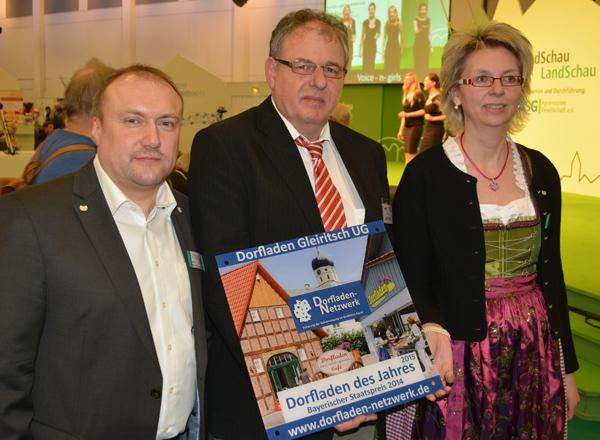 Anton Brand, Uwe Hauptfleisch und Claudia Brand