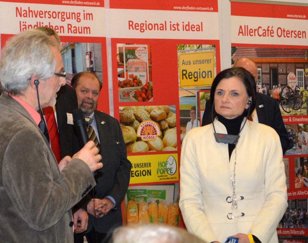 Bürgermeister Berthold Ziegler (links) und MdB Gitta Connemann (CDU)