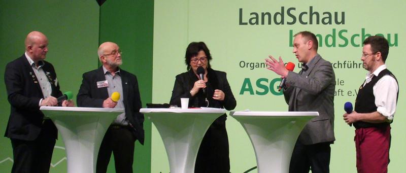 Gesprächsrunde auf der LandSchau-Bühne am 16.1.2015 in Berlin