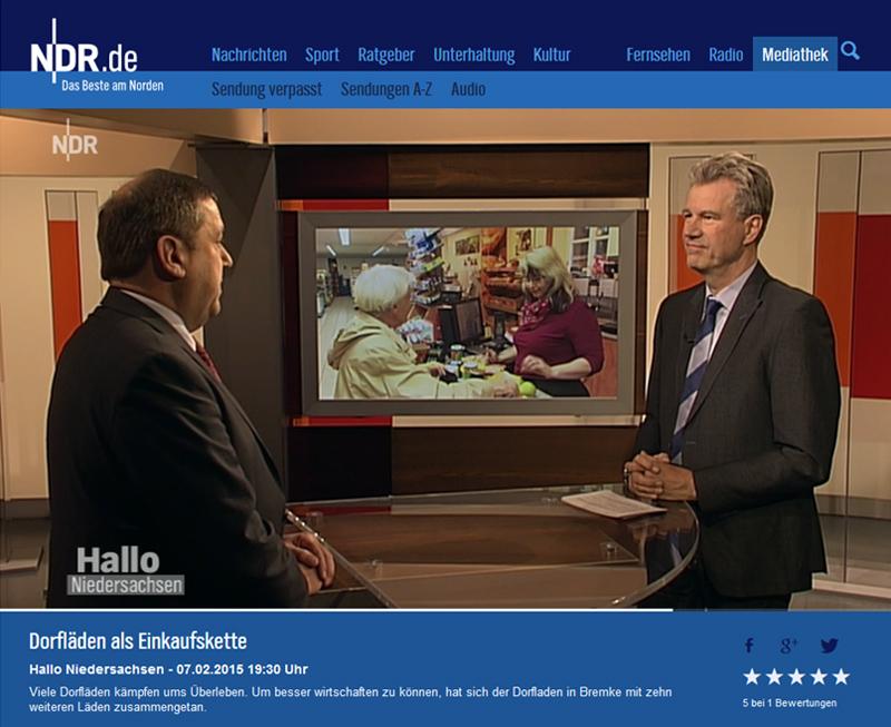 Günter Lühning im Live-Interview mit NDR-Moderator Peter von Sassen