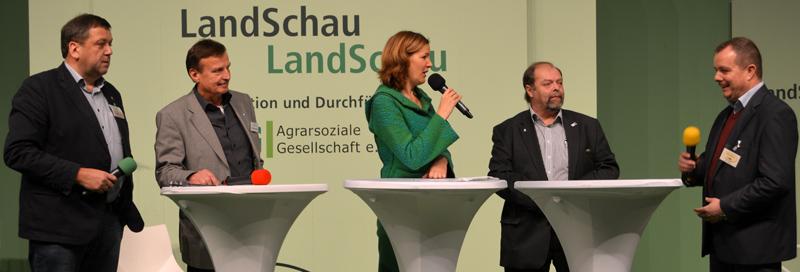 Gesprächsrunde auf der LandSchau-Bühne am 24.1.2015