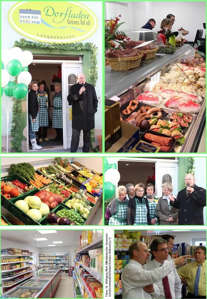 Fotos von der Dorfladen-Eröffnung und vom Minister-Besuch in Langenhessen (Sachsen)